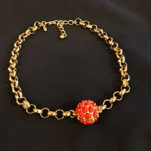 Kenneth Jay Lane link choker with bauble